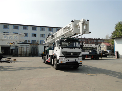Delivery BZC400WY truck mounted drilling rig to Xinjiang, China.