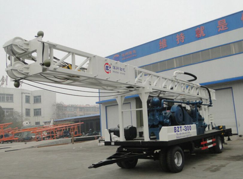 BZT300 tralier mounted drilling rig